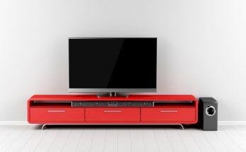 Tv with soundbar and subwoofer
